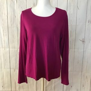 Eileen Fischer Purple Long Sleeve Tee Size L